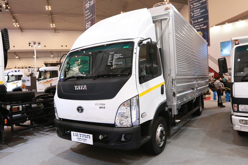 """""""Following the launching of Smart World Truck Tata Prima 4928, Tata Motors also uses the opportunity of joining GIIAS 2015 to introduce a global-standard ..."""